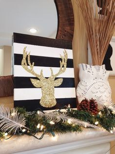 I don't want the deer head, but it gives step by step instructions on how to make this canvas