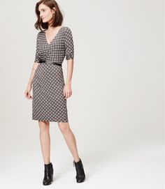 Style & silhouette, but a different color.  Charm Crossover Dress | LOFT