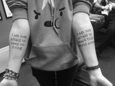 My Chemical Romance tattoo I want this as my first tattoo, by far some of my favorite lyrics from their songs<<<I REALLY WANT TO GET THESE or mabye just get one and have matching mcr tats Emo Tattoos, Lyric Tattoos, Band Tattoo, Dream Tattoos, Trendy Tattoos, Future Tattoos, Body Art Tattoos, I Tattoo, Tatoos
