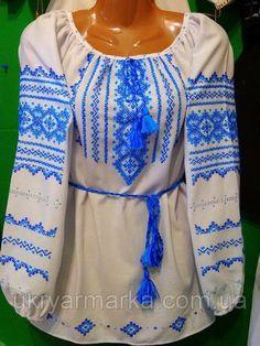 7f9ba64a85f257 Жіноча #вишиванка #ручної роботи в українському стилі. Вишита геометричними  візерунками спереду та на
