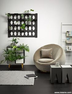 Turn a forgotten corner into a modern reading nook with super neutrals from Resene. The monochromatic tones in this space manage to keep it timeless yet still contemporary. White Lounge, Holiday Mood, Inspirational Wallpapers, Drawer Fronts, Reading Nook, Midcentury Modern, Color Inspiration, Neutral, Sweet Home