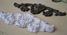 How to make plaster molds.  Now I can replace the one drawer pull that is missing.