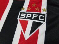Sao Paulo FC 2017-18 Season Away Red Black SPFC Soccer Shirt Jersey [J890]