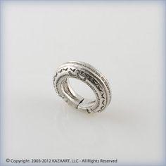 Old Fulani Peul African Silver Ring Mali