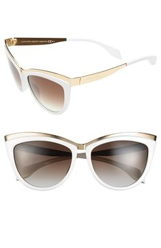 Alexander McQueen 57mm Cat Eye Sunglasses available at #Nordstrom