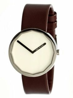 Issey Miyake Twelve 38mm Watch (White Dial; Leather Maroon Band; Silver Bezel; Issey Miyake. $380.00. Case Dimensions: 38mm (1.50 in Diameter; 9mm (0.35 Thick. Case Material: Brushed and Polished Solid Silvertone Stainless Steel Case w Black Polyurethane Cover. Crystal: Hardened Mineral Crystal. BraceletStrap: Black Leather Band; 20mm (0.79 Wide Near Case; 20mm (0.79 Wide Near Buckle With Strap Buckle Clasp. Movement: Precise Japanese Professional Quartz Movement