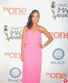 TV Host Jasmine Simpkins at the 2015 NAACP Image Awards #NAACP #ImageAwards #youngboldregal
