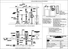 Partes de bomba contra incendios (dwgDibujo de Autocad