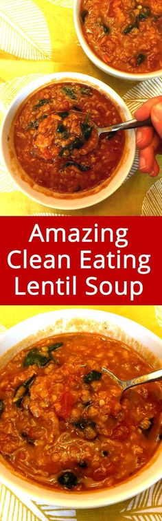This lentil soup is simply amazing! So healthy and full of flavor! LOVE LOVE LOVE this soup!