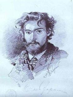 Self Portrait, Fyodor Vasilyev (1850-1873) Russian
