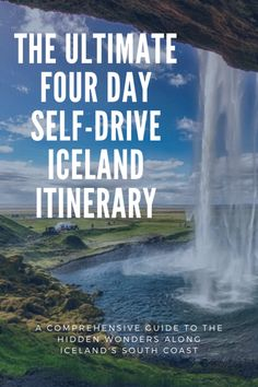 This comprehensive post highlights the perfect four day, self-drive itinerary for visitors looking for an epic road trip along Iceland's South Coast. See the best of Iceland's waterfalls and amazing scenery. Guide To Iceland, Iceland Travel Tips, Europe Travel Guide, Europe Destinations, European Road Trip, Road Trip Europe, Iceland Pictures, Iceland Adventures, Perfect Road Trip