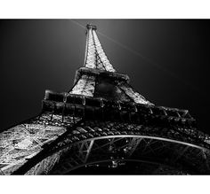 "Paris Photography, Paris Decor, Eiffel Tower Decor, Paris at night, Paris photos - ""Glow"" - 8x8, 8x10, 8x12 Fine Art Photograph B or Sepia. $25.00, via Etsy."