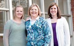 Three Auggies - One family. Weekend and Evening College student Sharon Wade '08 attended Augsburg at the same time as her daughters, Tracy '08 and Laura '04.