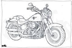 Resultado de imagem para desenho para colorir moto xj6