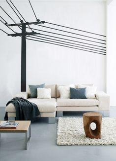 Grafisches Fotomotiv: Wandsticker Power Pole von Ferm Living #dänisch #skandinavisch #design