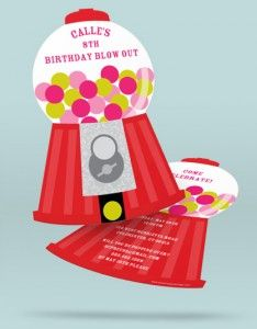 Kids Birthday Party Idea - This creative mom and daughter made a gumball machine-themed birthday!