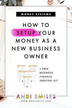 How to Setup Your Money as a New Business Owner- Ready to setup your small business finances? Click through to learn my top 5 financial tips for new entrepreneurs and how you can get your business finances organized. Business Money, Business Planning, Business Tips, Online Business, Business Management, Money Management, Creative Business, Bakery Business, Business Essentials