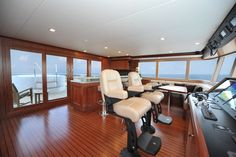 Nordhavn 120-Flybridge-Custom Yacht Interior Design-Destry Darr Designs