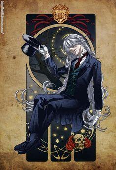 Black Butler Kuroshitsuji Undertaker   Undertaker - Black Butler - Kuroshitsuji - by ioshik ...   Anime - Ma ...
