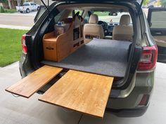 Minivan Camper Conversion, Suv Camper, Camper Van Life, Mini Camper, Outback Car, Outback Campers, Subaru Outback, Minivan Camping, Truck Camping