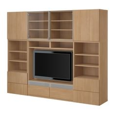 "BESTÅ TV/storage combination - beech effect, 94 1/2x15 3/4x75 5/8 "" - IKEA"