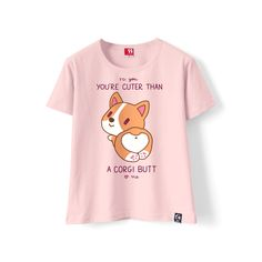 Cute Japanese Fashion T-Shirt on Girly Girl の To Alice.Japanese You Are Cute Than Dogy T-Shirt Round Neck Short Gg435 always wearable, forever pairable; comfy and charm, effortlessly yet attractive.Absolutely gorgeous stylish cool, and fashionable.Girly style,full of young vitality and glamour.