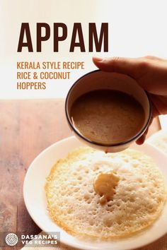 You will love these Kerala style Appam. These tasty lacy soft hoppers made from a ground, fermented rice and coconut batter are a special pleasure for weekend days! South Indian Vegetarian Recipes, South Indian Food, Indian Food Recipes, Appam Recipe, Weekend Days, Vegetable Stew, Veg Recipes, Baking Ingredients, Kerala
