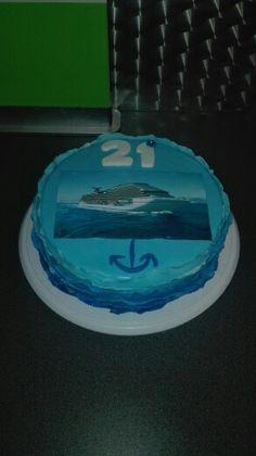 Cruise schip taart