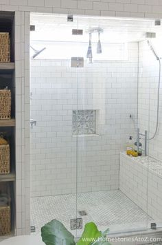 Beautiful bathroom remodel and complete transformation to this dream bath! Urban farmhouse master bathroom makeover with Delta Faucet. ** Additional info #DIYHomeDecor