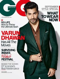 Male Fashion Trends: Varun Dhawan para GQ India Septiembre 2015