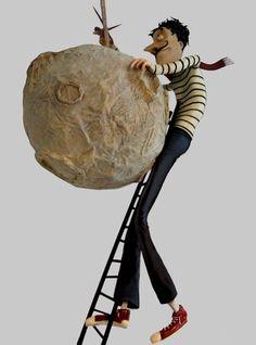 index Paper Mache Diy, Paper Mache Projects, Paper Clay, Paper Art, Cardboard Sculpture, Paper Mache Sculpture, Sculpture Art, Toy Art, Puppet Crafts