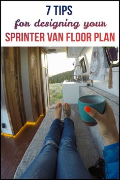 Designing your Sprinter Van floor plan can be daunting. Here's 7 tips & things to consider as you are finalizing the layout of your Sprinter van conversion. Van Conversion Floor Plans, Van Conversion Layout, Van Conversion Interior, Van Conversion With Shower, Van Interior, Sprinter Van Conversion, Camper Conversion, Campervan Conversions Layout, Sprinter Camper