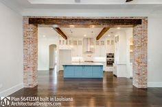 Madden Home Design - Acadian House Plans, French Country House Plans Acadian Style Homes, Acadian House Plans, French Country House Plans, Southern House Plans, Southern Homes, Country Homes, Southern Charm, Brick Archway, Brick Columns