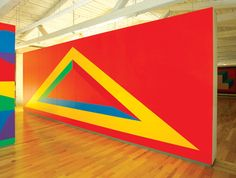 MASS MoCA :: Sol LeWitt :: Wall Drawing 1005. Isometric form. December 2001 Acrylic paint Courtesy of the Estate of Sol LeWitt