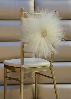Ivory flower chair sash by FloraRosa Design