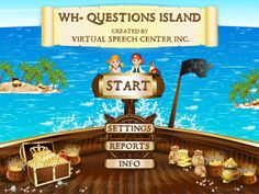 Speech Room News: WH-Questions Island {app review} Pinned by SOS Inc. Resources.  Follow all our boards at http://pinterest.com/sostherapy  for therapy resources.