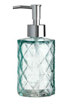 Lasinen saippuapullo - Turkoosi - Home All | H&M FI