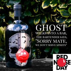 Good luck with your fundraising!  #RedNoseDay #comicrelief  #jokeoftheday #friday #friyay #ghost 👻 #GhostVodka #ghost #vodka #skull #cheers