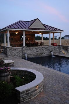 landscaped pool house - Google Search