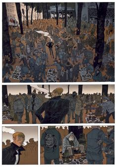 """junxyard: """" The first 3 pages of Belleville Story by Vincent Perriot """" Comic Book Artists, Comic Artist, Comic Books Art, Storyboard, Bilal, Comic Layout, The Art Of Storytelling, Graphic Novel Art, Background Drawing"""