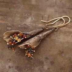 Drop earrings or pendant Bird Jewelry, Enamel Jewelry, Copper Jewelry, Clay Jewelry, Jewelry Crafts, Jewelry Art, Beaded Jewelry, Jewlery, Jewelry Design