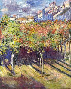 Les tilleuls à Poissy (E. Monet)