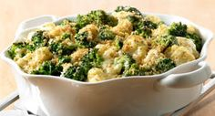 Broccoli Cauliflower Casserole: This creamy casserole can be made a day ahead, refrigerated and then baked just before dinner. Using frozen vegetables makes this dish a cinch.