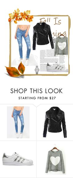 """#casual for autumn"" by jasna91 ❤ liked on Polyvore featuring Sans Souci, adidas Originals, Michael Kors and Anja"
