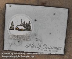 """Artistic Embellishments: A Cozy Christmas """"Build your own snow globe""""!!"""