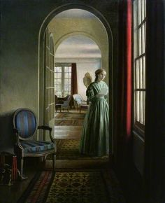 """""""The Letter"""", 1942, by Leonard Campbell Taylor (British, 1874-1969)."""