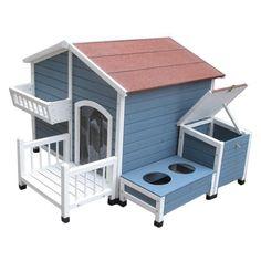 Advantek Garden Cottage Dog House - Dog Houses at Hayneedle