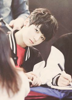 My maknae let me love you! Cause who doesn't want a cute baby face to aegyo for you :3 You are the cutest baby ever Jungkookie~
