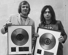 """Andrew Lloyd Weber and Tim Rice displaying the gold and platinum discs awarded for their """"Jesus Christ Superstar"""" rock opera. Jesus Christ Superstar 1973, Les Miserables Movie, Johnny Depp Movies, Music Of The Night, Sweeney Todd, Influential People, British Men, Funny Tattoos, Phantom Of The Opera"""