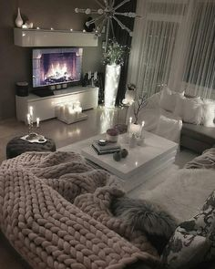 This looks so COMFY and COZY! What do you think of this family room style? TAG… This looks so COMFY and COZY! 😍 What do you think of this family room style? ❤ TAG a friend who you would sit here with! Living Room Decor Cozy, Living Room Bedroom, Bedroom Decor, Cozy Living, Bohemian Style Bedrooms, Apartment Living, Cozy Apartment, Apartment Ideas, Living Room Designs